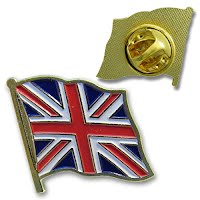 UK flag metal badge