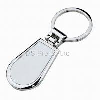 Curve metal keychain