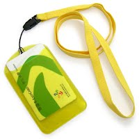 Lanyards with PVC card holder