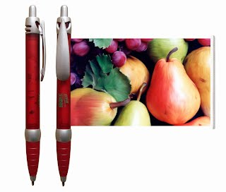 Fruits flag pen