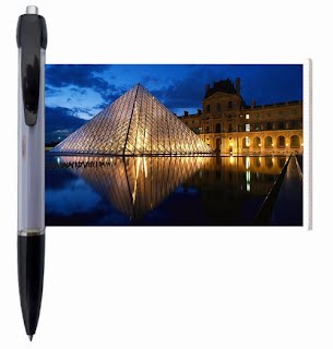Louvre Museum banner pen