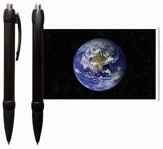 Earth banner pen