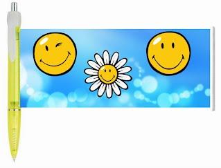 Smiley face banner pen