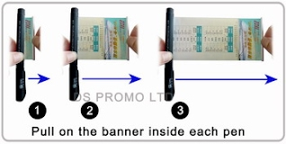Rubberized banner pen Pull out