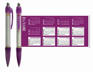 Calendar banner pen