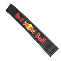 Red bull bar mat