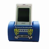 Blue PVC mobile phone holder
