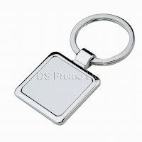 Square metal keychain