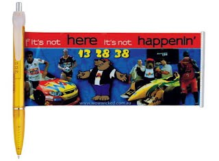 Sports racing car banner pen