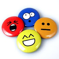 Smiley button badge