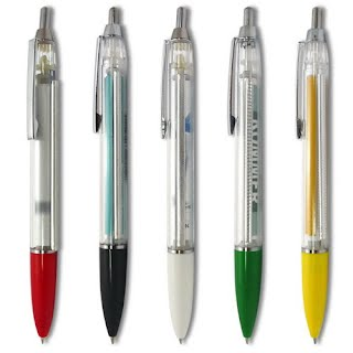 Different colors of scroll pens