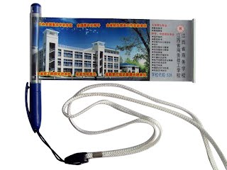 Poster pen with lanyard