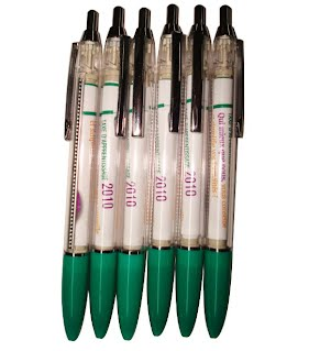 Retractable scroll pens