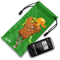 Green mobile phone holder