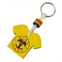 Foam floating T-shirt Keychain