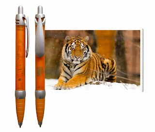 Tiger flag pen