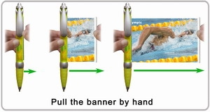 Pull the flag from banner pen