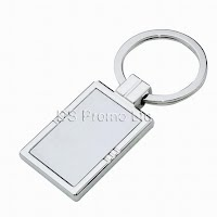 Rectangular metal keychain