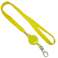 Lanyards with pull reel