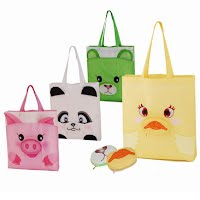 Silk-screen printed shopping bag