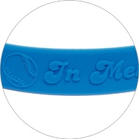 Silicone wristband with raised logo 3