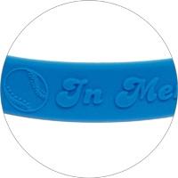 Silicone wristband with raised logo 3