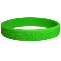 Silicone wristband with raised logo 1