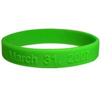 Silicone wristband with raised logo 1