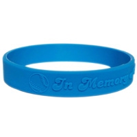 Silicone wristband with raised logo 2