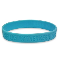 Debossed silicone wristband 2