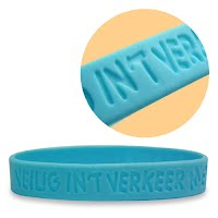 Debossed silicone wristband 1