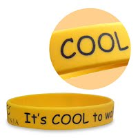 Printed silicone wristband 1